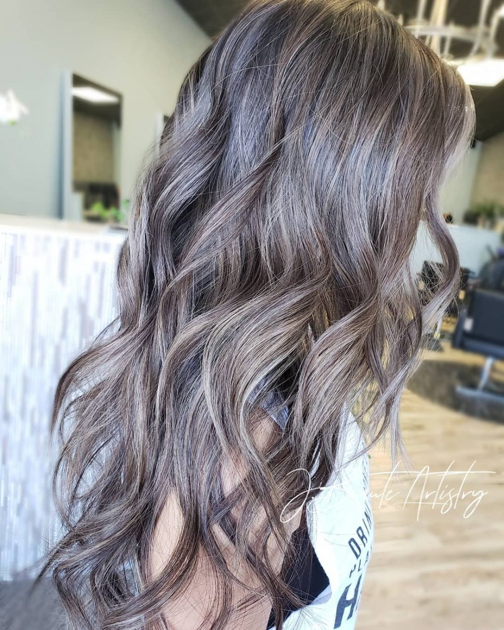 Red Ash Brown With Silver Gray Google Search Ash Blonde Hair Colour Ash Blonde Hair Ash Blonde Highlights