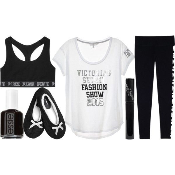 Ready For The Victoria Secret Fashion Show by j-n-a on Polyvore featuring moda, Victoria's Secret, Avenue, Manic Panic, Essie, women's clothing, women's fashion, women, female and woman