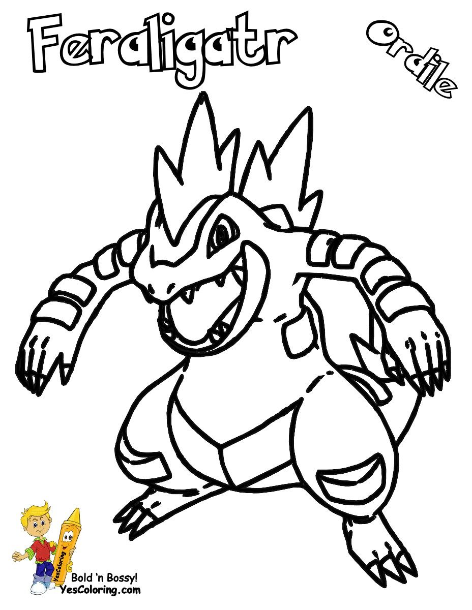 Pokemon Coloring Pages Feraligatr Pokemon Coloring Pages