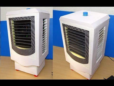 How To Make Powerful Air Conditioner Without Ice Diy Cardboard