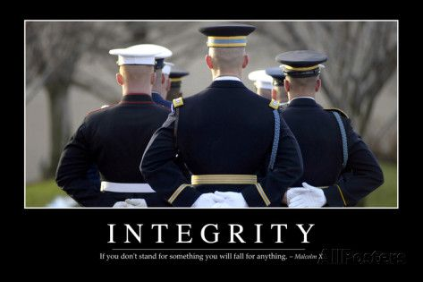 The American Soldier IT/'S ALL ABOUT INTEGRITY Inspirational Motivational POSTER
