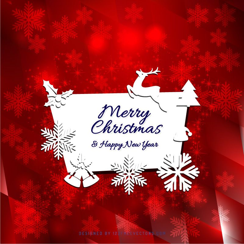 Merry Christmas And Happy New Year Greeting Card Template Happy New Year Cards Merry Christmas Card Merry Christmas And Happy New Year