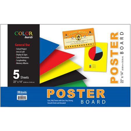 Office Supplies Poster Colour Poster Board Size Poster