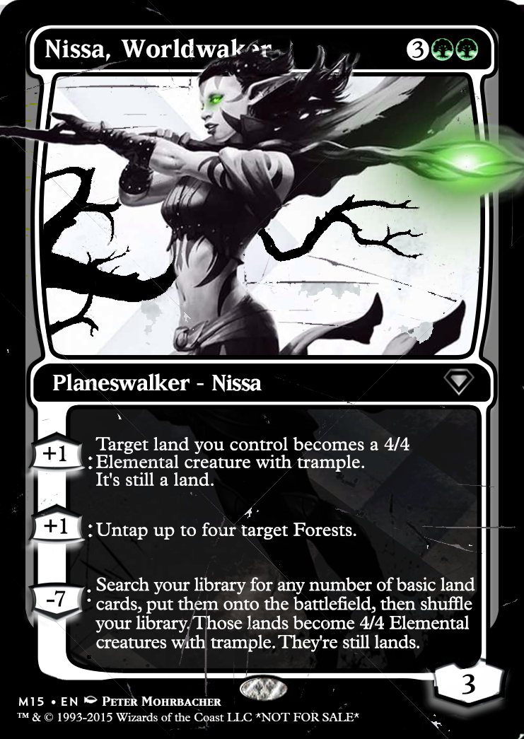 M15 Style Nissa Inspired By The Sdcc Blacked Out Planeswalkers By