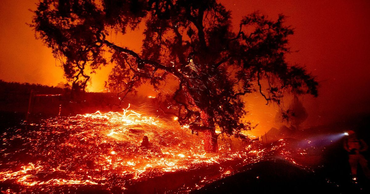 Northern California fire explodes overnight in 2020