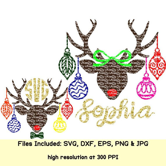 Christmas Reindeer Svg Bundle Names Deer Antler Ornament Kids Etsy Kids Ornaments Christmas Svg Design Christmas Reindeer