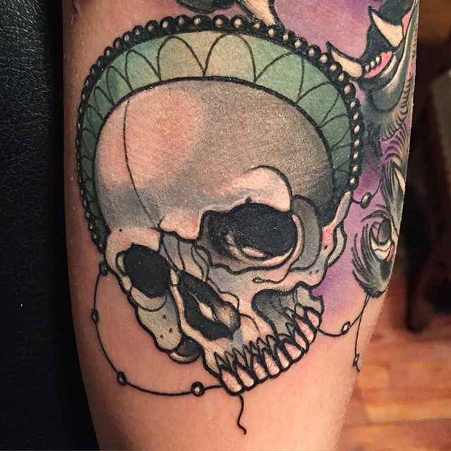 Neo Traditional Skull Tattoo by Gia Rose #skull # ...