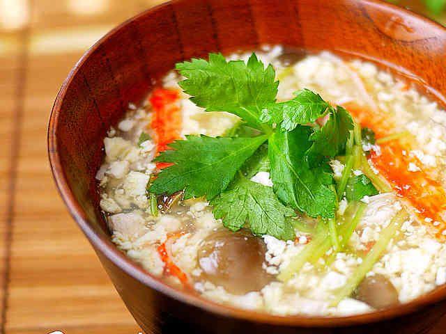 卵と豆腐の茶碗蒸し風とろみ汁*温冷OK♪