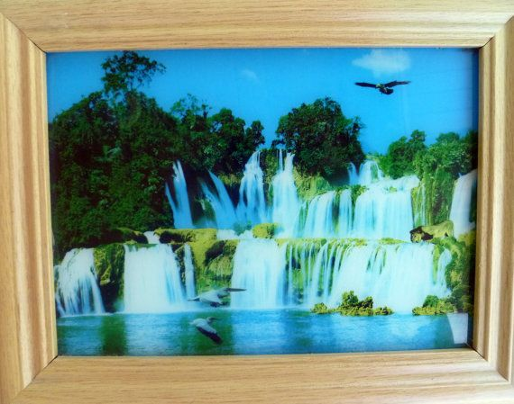 Moving Picture In Motion Amazing Vintage Light Box Moving Waterfall