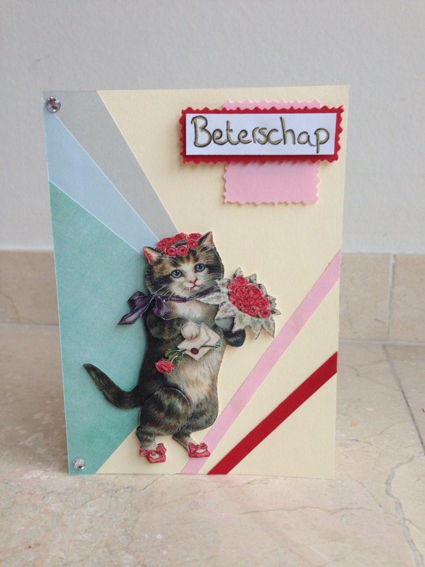 Beterschapskaartje! Get well soon card! DIY
