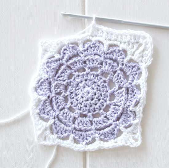 crochet square flower pattern | granny square | Pinterest | Crochet ...