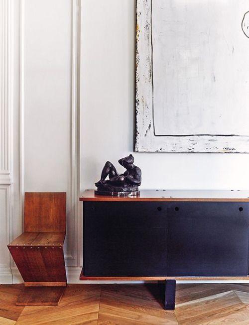 Miguel Arzueta - Barcelona -Perriand sideboard, Zig Zag chair by Gerrit Tietveld
