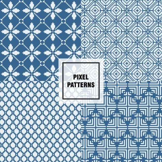 Diseño de patrones de píxeles Vector Gratis | Source Graphic ...