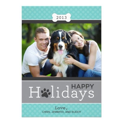 Happy Holidays Photo Card | Puppy Dog Theme