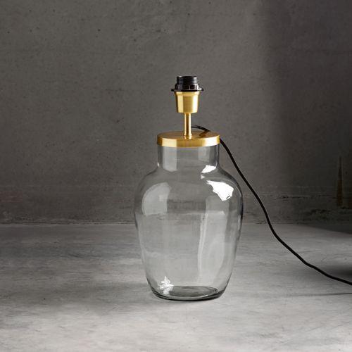 pied de lampe en verre avec douille en laiton tine k home