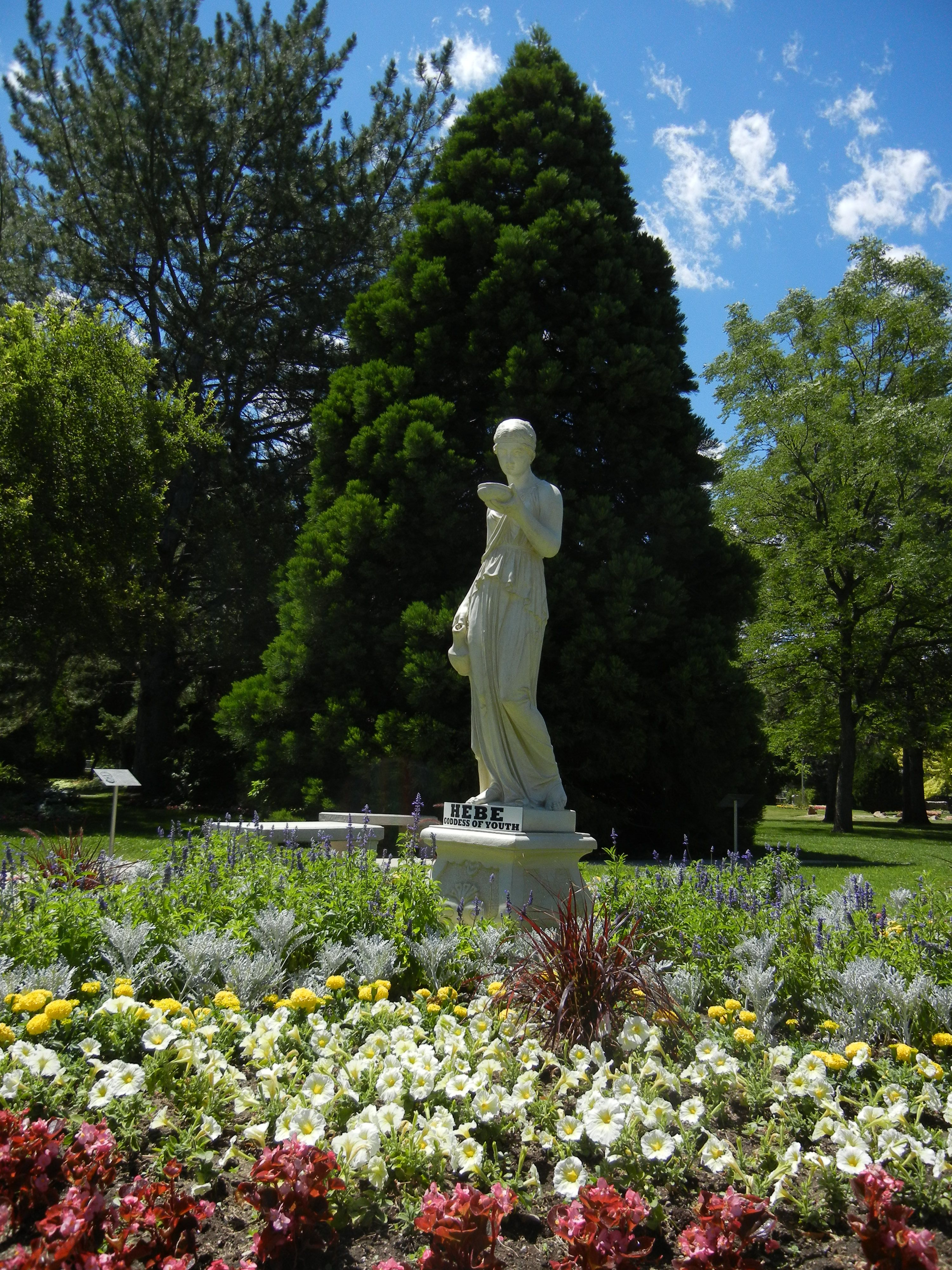 Hebe Goddess of Youth statue at the