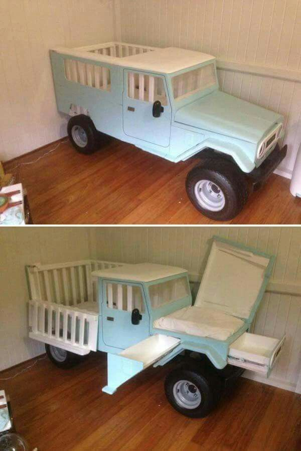 Jeep Baby Bed W Changing Table Drawers Kid Beds Kids Furniture Cool Beds For Kids