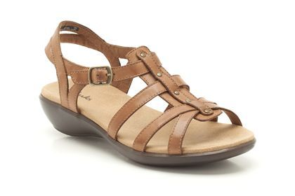 04d32881f717f ... Womens Casual Sandals - Roza Jaida in Tan Leather from Clarks shoes  pretty nice e6284 b5abc ...
