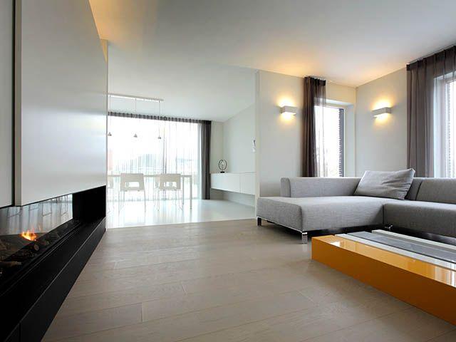 Modern Interieur Woonkamer : Modern interieur u gesloten haard u woonkamer u foto