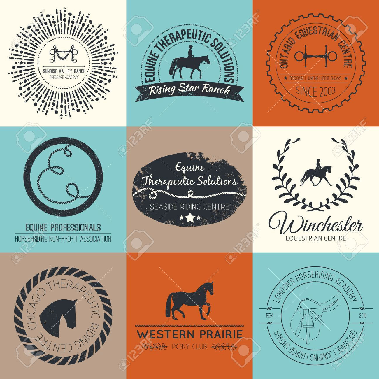 Horse Logo Design Stock Illustrations, Cliparts And