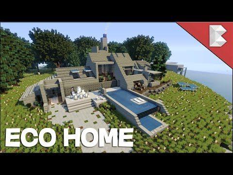 Minecraft Modern Stone House Eco Home Build Tour W X2f