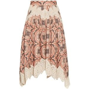 Zimmermann Empire Konya-print linen skirt