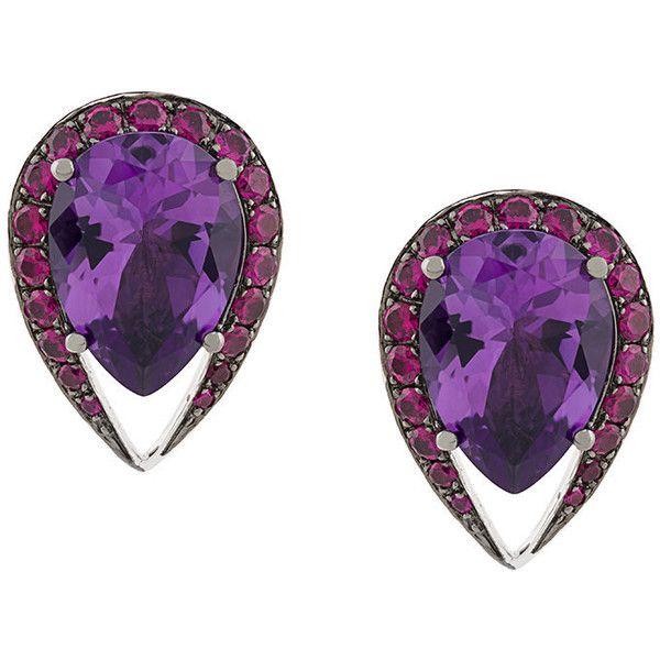Shaun Leane 18kt gold Aurora stud earrings - Pink & Purple 0Ku8PosQw