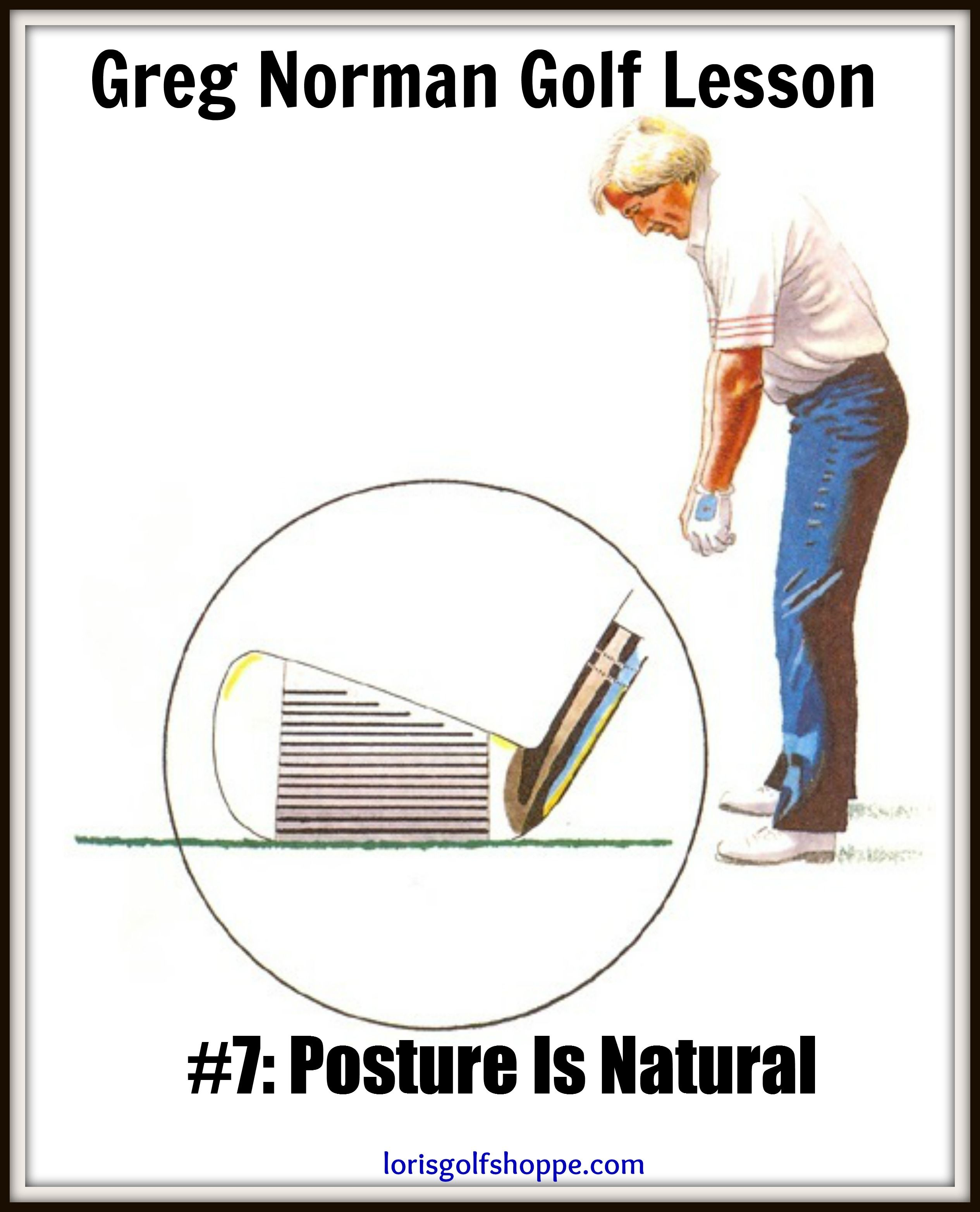 There S No Need To Agonize Over Getting The Ideal Position At Address Here S A Simple Way To Find It Without A Club Golf Lessons Greg Norman Golf Golf Room
