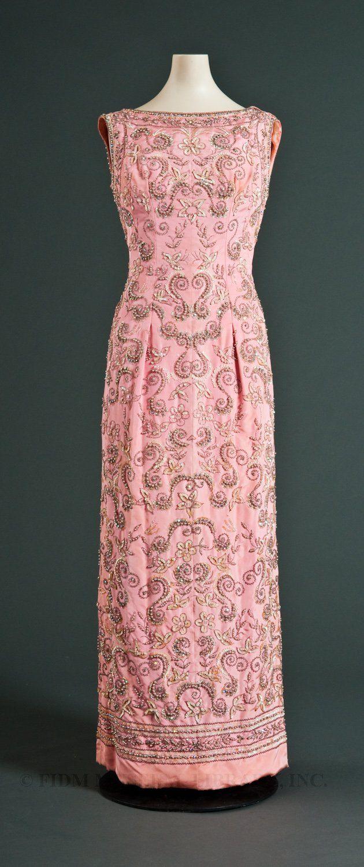 Sheath Dress, Pedro Rodriguez: ca. 1965, faille lavishly embellished ...