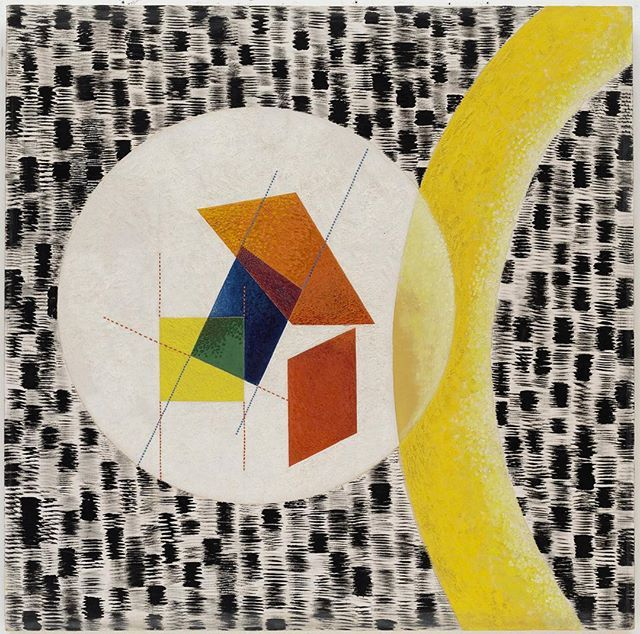 """Throughout his career, #MoholyNagy created works of an explicitly historical or autobiographical nature. """"Leuk 4,"""" completed the year before the Moholy's death from leukemia, poignantly evokes the artist's illness through numerous images of cancer cells. Reference can also be made to Moholy's former Bauhaus colleague Kandinsky—also concerned with rebirth and transformation—whose paintings team amoebic creatures and biological images culled from scientific literature.  László Moholy-Nagy…"""