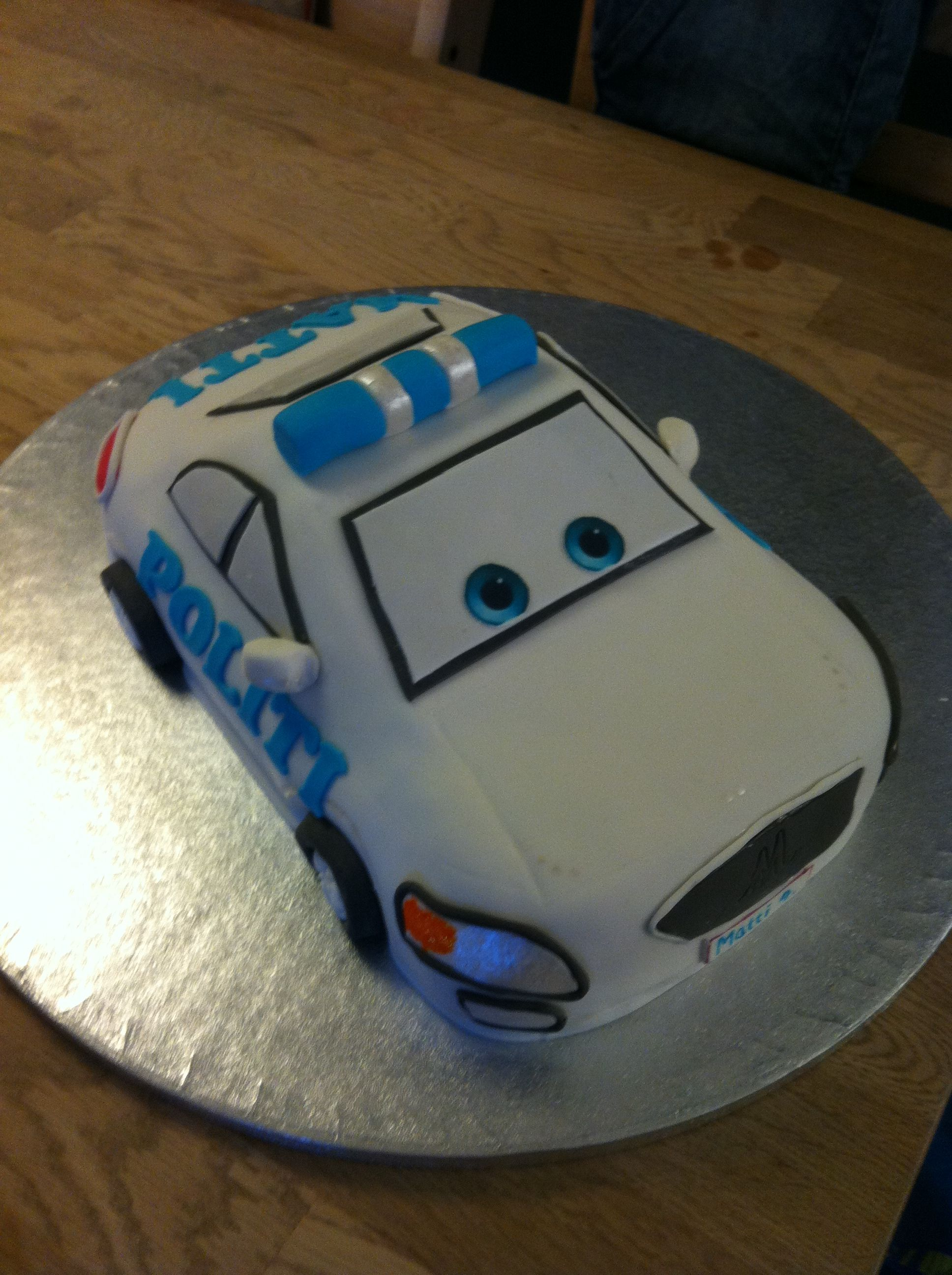 Polizei Kuchen Police Car Cake For A Birthday Torten Deko Pinterest