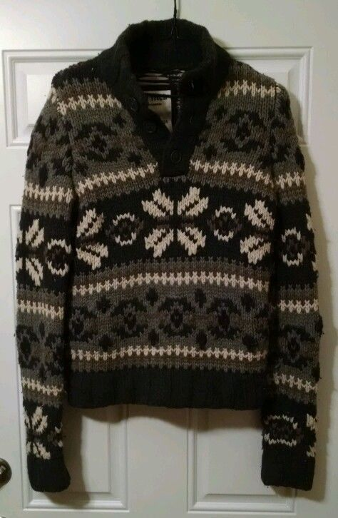 Ezra Fitch Abercrombie Hand Knit Sweater Cashmere/Wool Blend ...