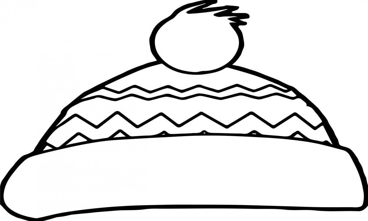 Fine Coloring Page Winter Hat That You Must Know You Re In Good
