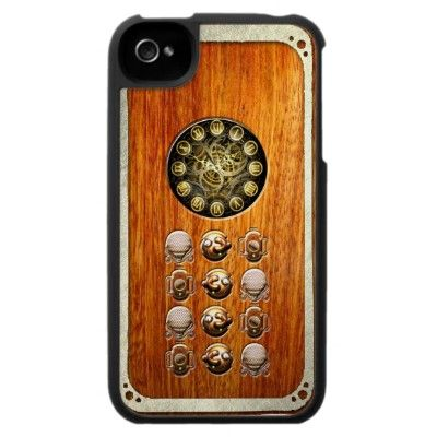Vintage Steampunk Phone Iphone 4 Case by #In_case