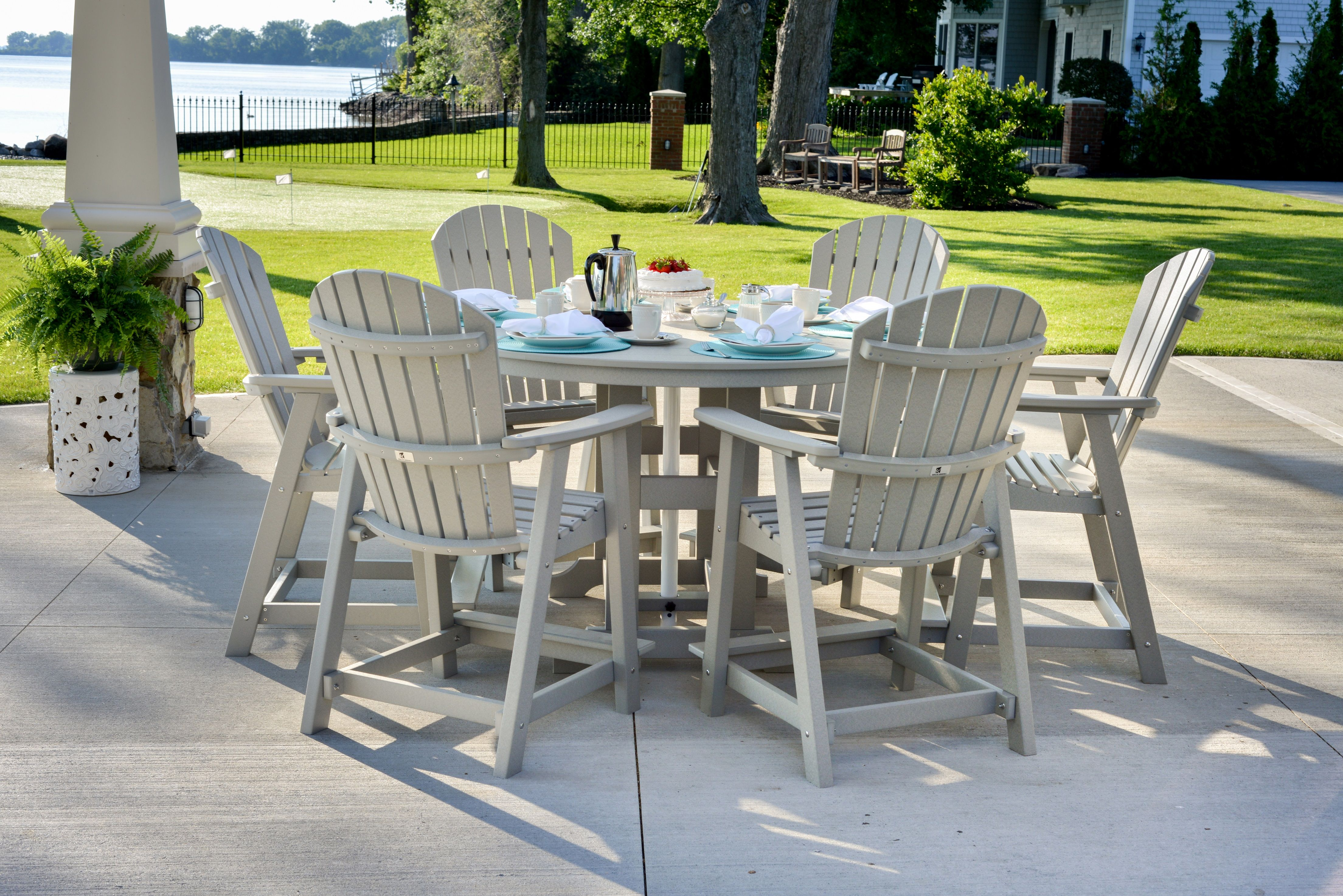 Outdoors Dining Set In Plastic Looks Like Wood Buscar Con Google