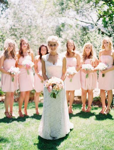 #bridesmaids #blush #wedding