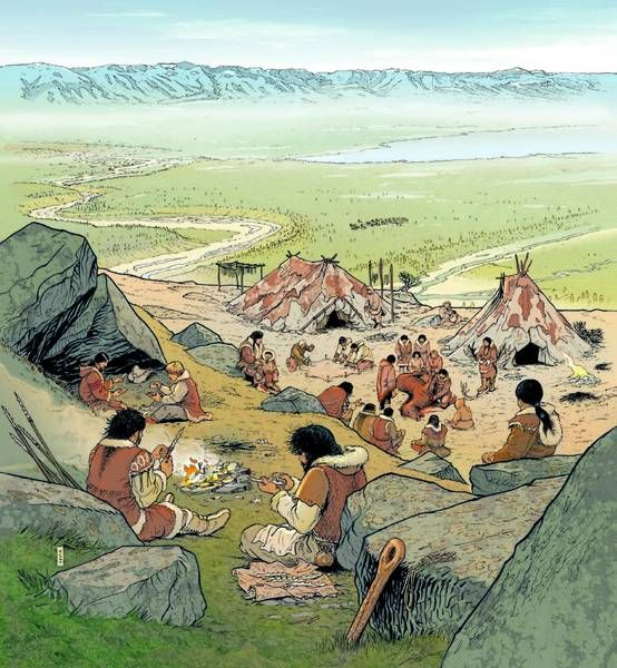 Andr houot a magdalenian camp about 13 500 bce for Camp stone