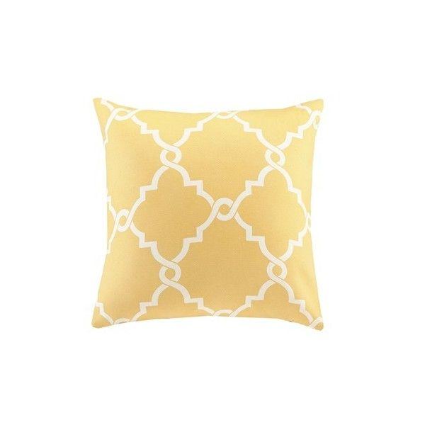 Madison Park Saratoga Fretwork Print Square Pillow 40 Liked On Gorgeous Madison Square Decorative Pillow