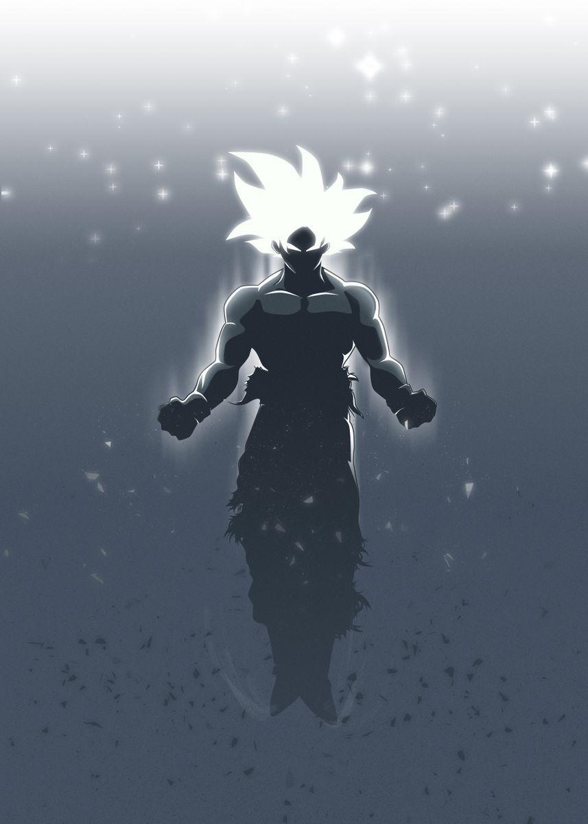 Goku Ultra Instinct Poster Art Print By Fadilr R Displate In 2021 Dragon Ball Super Artwork Dragon Ball Super Manga Anime Dragon Ball Super