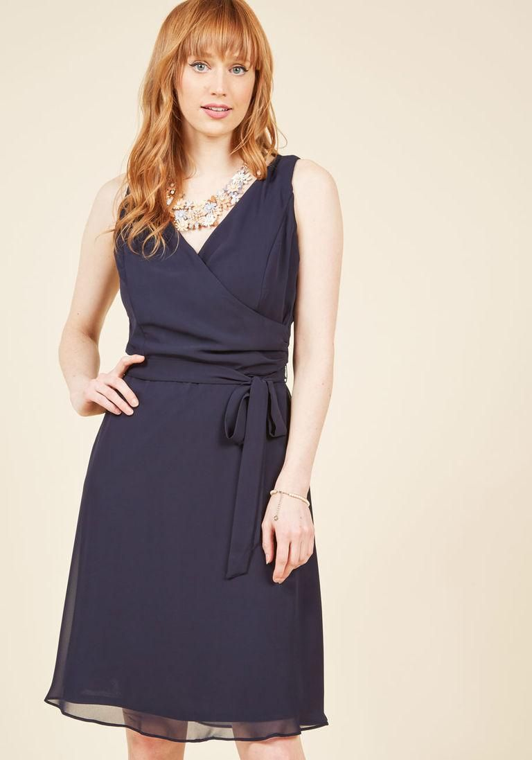 Camera Flash Finesse Wrap Dress in Midnight in 8 | Pinterest
