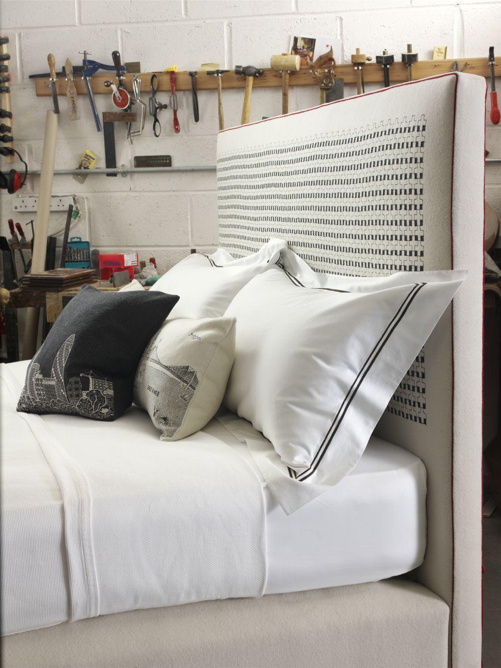 headboard detail savoir beds collaboration with designer charlene