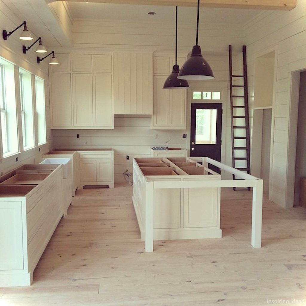 Farmhouse Kitchen Island: 061 Cottage Kitchen Cabinets Ideas Farmhouse Style In 2019