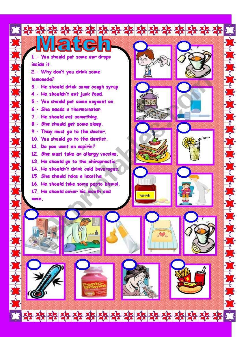 Health and the body!!! worksheet Worksheets, Health