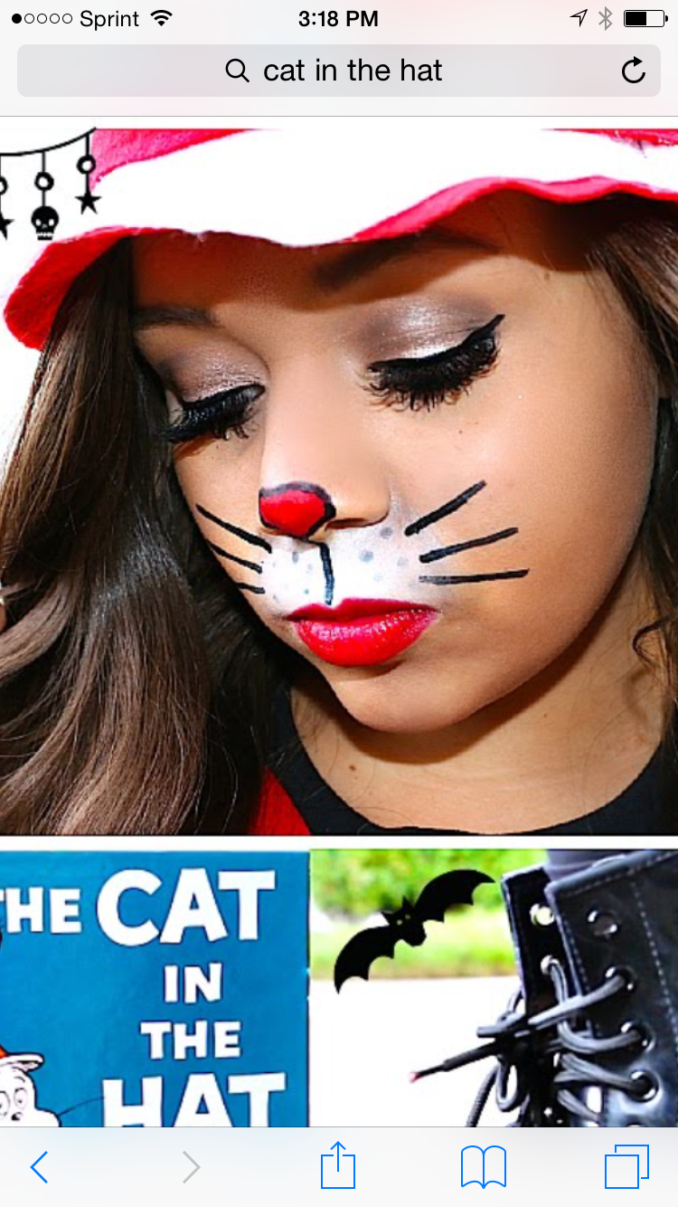 simple cat in the hat face paint | halloween | pinterest | costumes