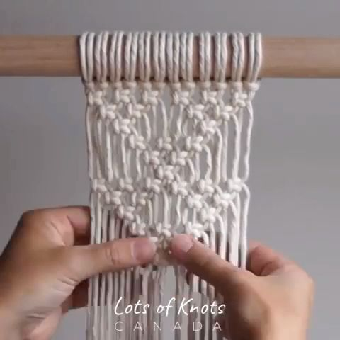 MACRAME SHAPES SERIES - Triangle Pattern Using Square Knots! - YouTube - crafts -