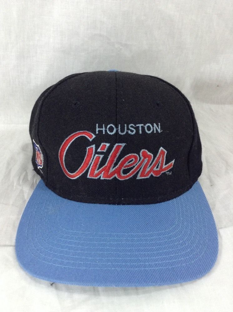 Houston Oilers Hat Sports Specialties Script Snapback Adjustable Cap   SportsSpecialties  Script fbe989ba855