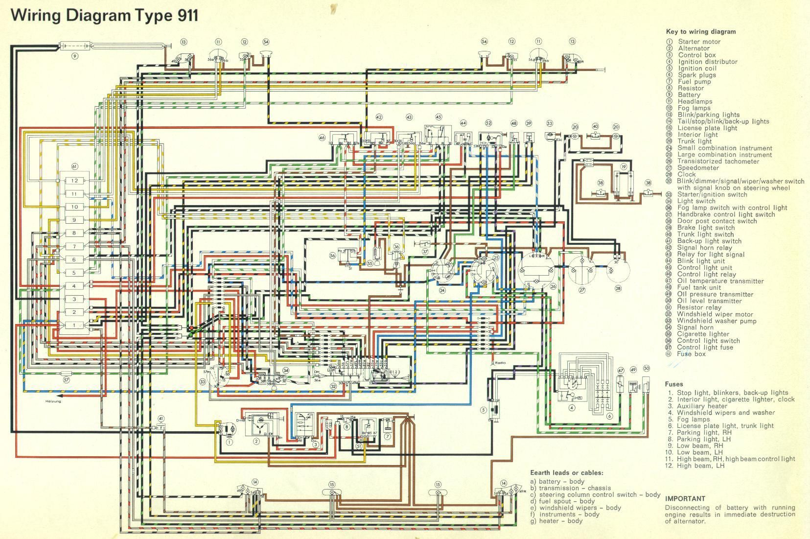 8cb43b29f07ea5998f004f5a19a90e5f 911_electrical_1965 jpg (1655�1101) porsche wiring pinterest Hayden Electric Fan Wiring Diagram at gsmportal.co