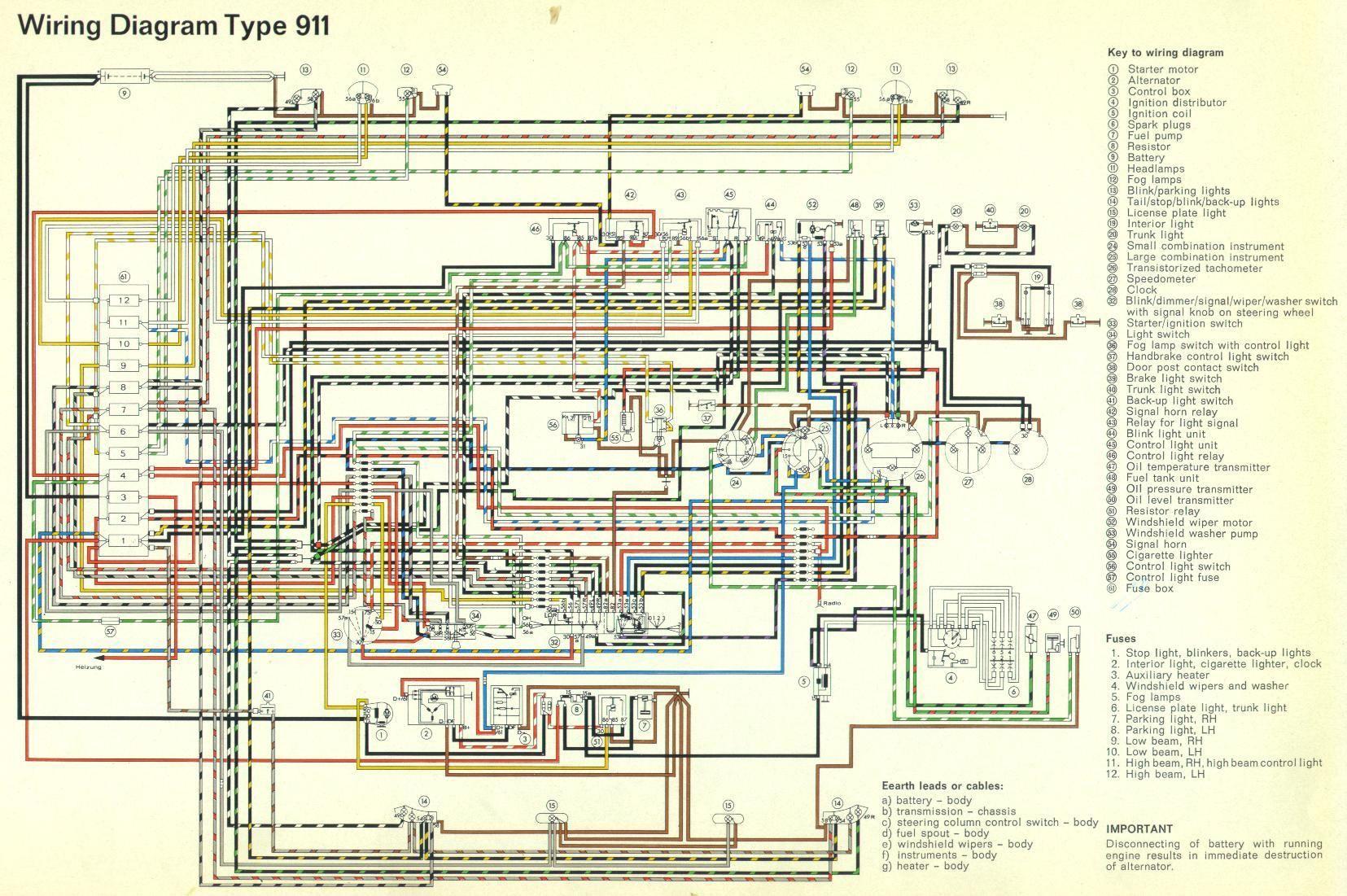 Porsche Wiring Diagram 2017 Fender Nashville Tele 911 Electrical 1965 Jpg 16551101