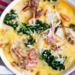 Soupe One Pot Olive Garden Zuppa Toscana - Mom on Timeout #zuppatoscanasoup
