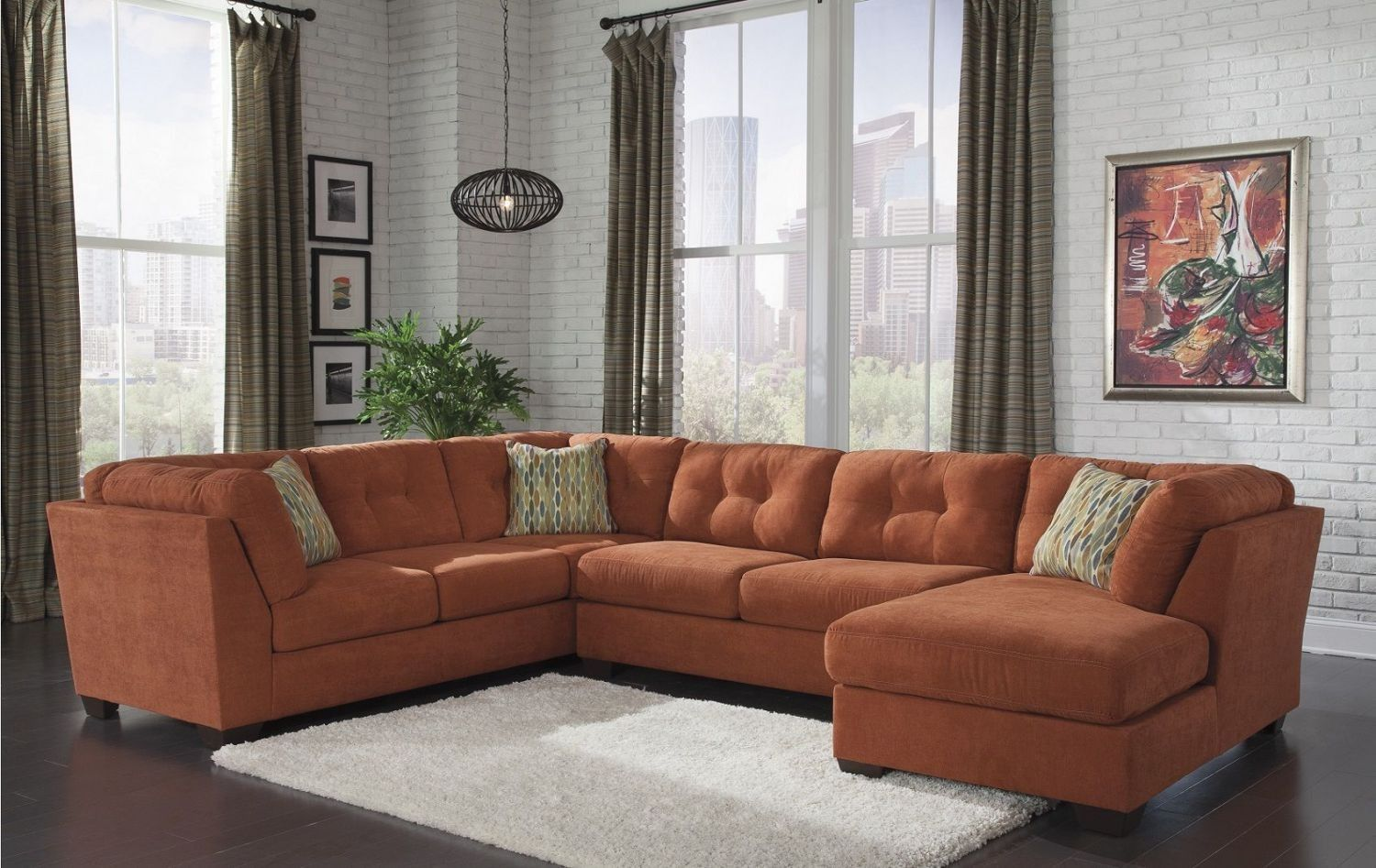 Delta city rust sectional for the home pinterest rust living